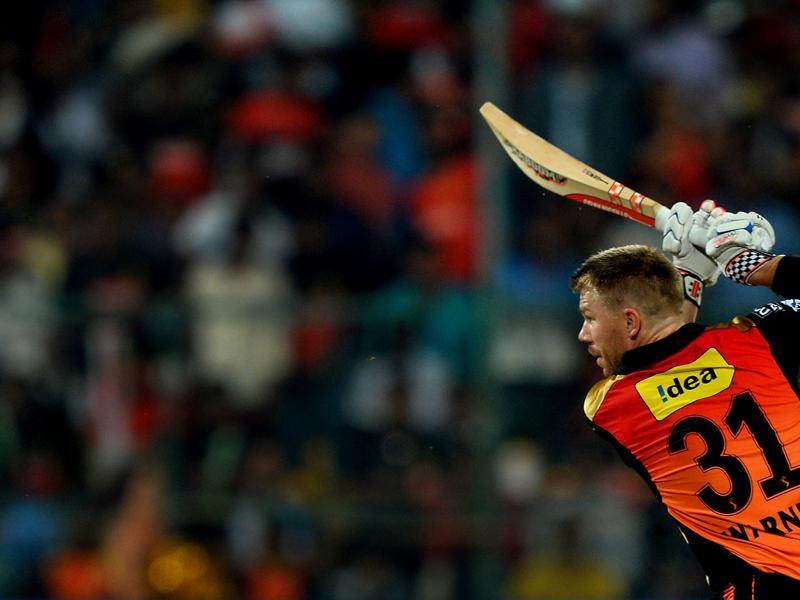 Warner hit 69 off 38 balls, including eight fours and three sixes. (AFP)