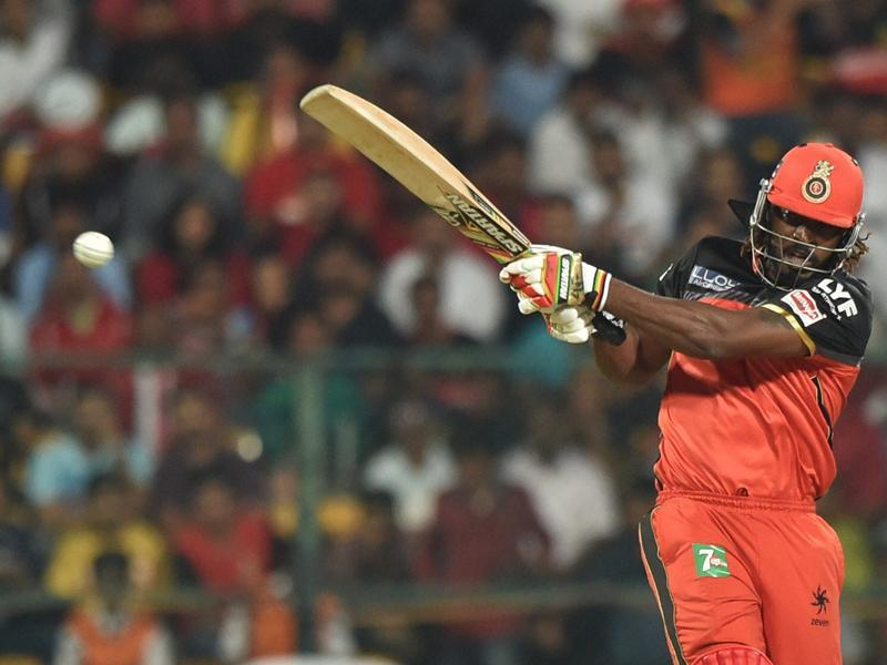 Chris Gayle smashed a whirlwind 38-ball 76, including four fours and eight sixes. (PTI)