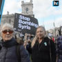 London: Demonstrators call for an end to US-led strikes on Syria