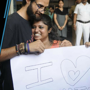 Free hugs offered to protest attack on a couple in Kolkata metro
