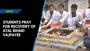 Students pray for recovery of Atal Bihari Vajpayee