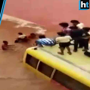 Watch: 50 children trapped in a waterlogged underpass in Rajasthan