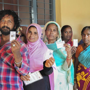 Lending a helping hand to elderly voters in Lucknow
