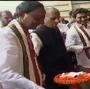 Jagan Reddy, Fadnavis by his side, KCR inaugurates mega irrigation project
