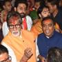 Amitabh Bachchan, son Abhishek join Mukesh Ambani at Lalbaugcha Raja