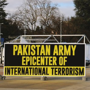 'Army epicenter of terror', reads poster by Pak minorities outside UN office