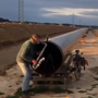 Long pipe echoes sound of saxophone. Video is nothing short of amazing