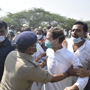 In photos: Rahul Gandhi, sister Priyanka detained by UP Police