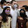 Rahul keeps his word, gifts house to girls who lost everything in landslide