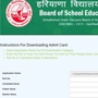 BSEH compartment admit card 2020 released at bseh.org.in, here's direct link to download