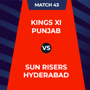 IPL 2020 - KXIP Vs SRH, 1st innings: Live Updates: Score after 5 overs