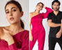 Sara Ali Khan 'thinks pink' in fuchsia one-sleeved  jumpsuit