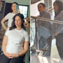 Mom-to-be Kareena Kapoor and sister Karisma Kapoor twin in grey turtlenecks