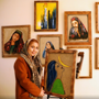 Young Afghan woman opens art gallery to create jobs, and hope