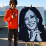 Kamala Harris calls teen to thank him for creating her portrait. Watch