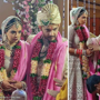 Aditya Narayan, Shweta Agarwal twin in ivory-gold wedding ensembles