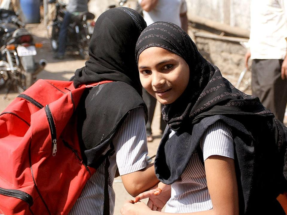 A class 12 board girl student was allegedly misbehaved and scolded while taking her board exam while wearing a hijab.