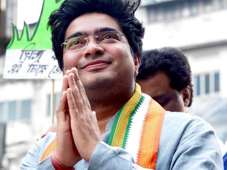 Abhishek Banerjee, Mamata Banerjee's nephew  and Trinamool Congress's candidate from Diamond Harbour LokSabha constituency