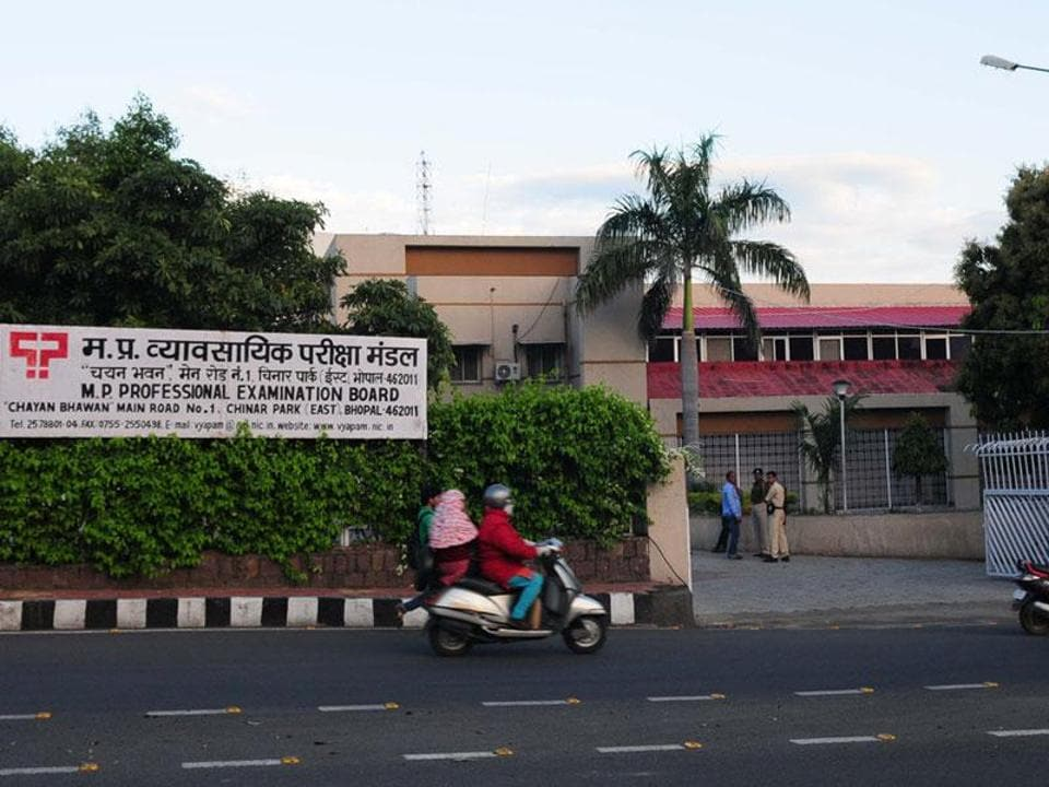 MPPEB building in Bhopal (Mujeeb Faruqui/HT file photo)