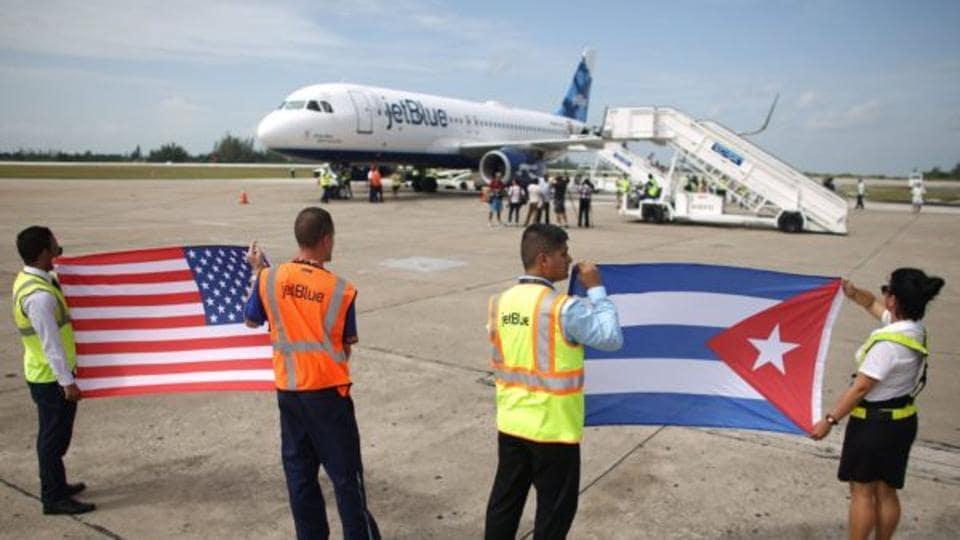 An American Airlines plane made the first direct flight to Havana in more than 50 years.