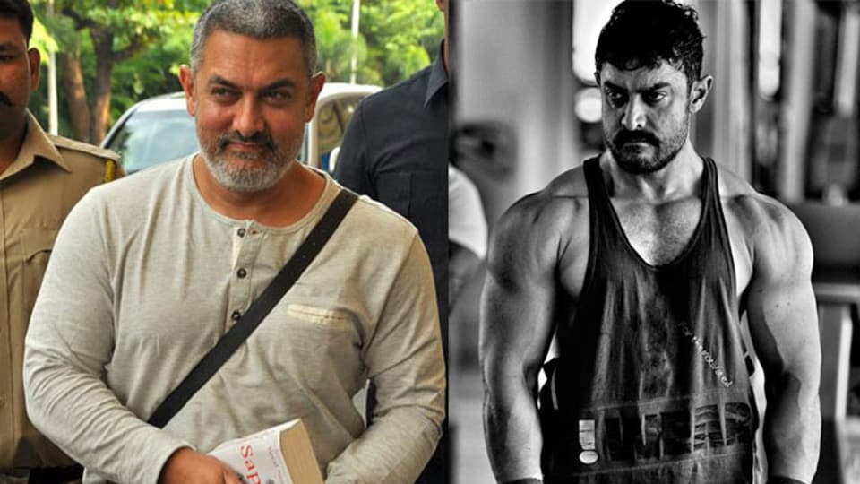 Aamir Khan put on a lot of weight for the role and later shed kilos to portray the younger part of his character's life in Dangal.