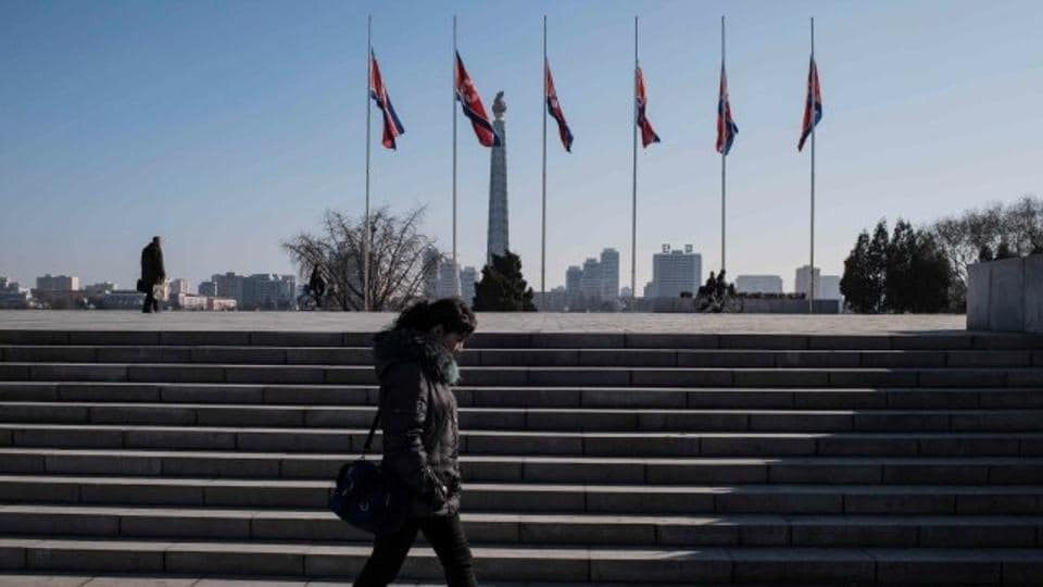 InNorth Korea, flags outside official buildings are being flown at half-staff to honour Castro, who died Friday at age 90.