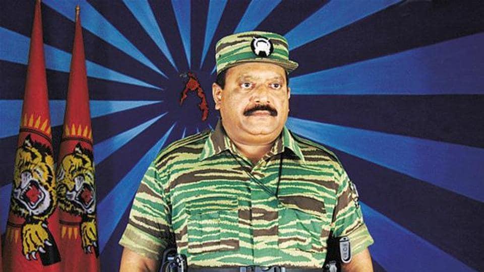 A file photo of Liberation Tigers of Tamil Eelam chief Velupillai Prabhakaran.