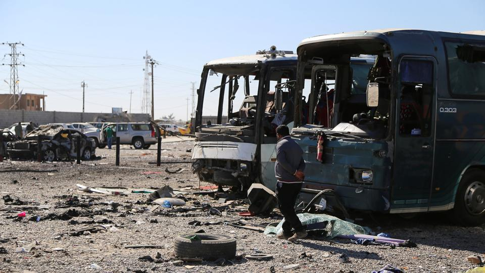 A file picture of a site where a suicide bomber detonated his explosives-laden ambulance in Iraqi city of Samarra on November 6, 2016.