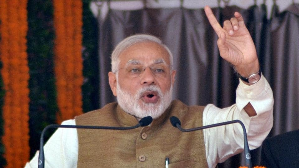 Prime Minister Narendra Modi said the BJP's victory in Gujarat local body polls reflected 'people's strong faith in development politics', on Tuesday.