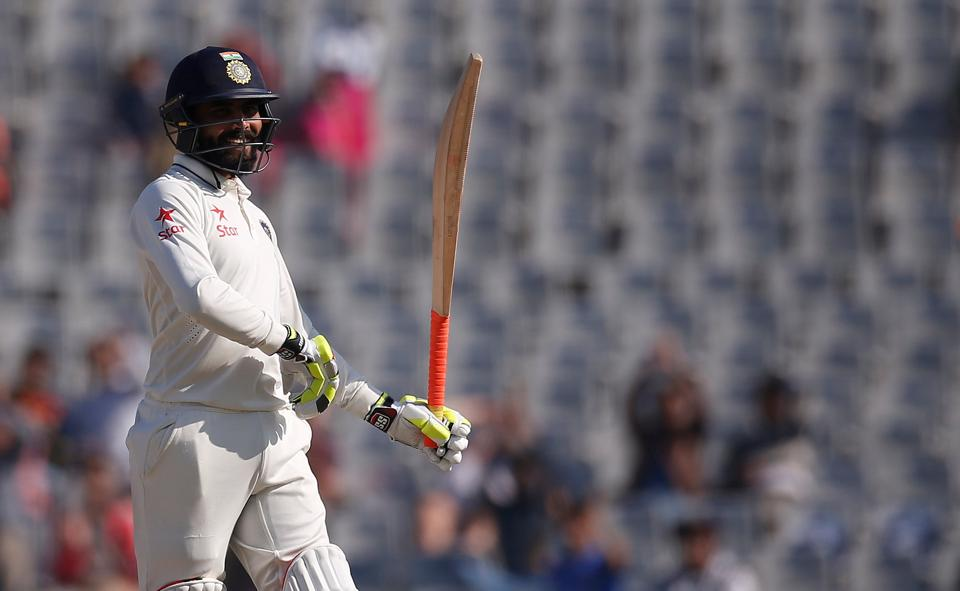 Ravindra Jadeja had no regrets after falling 10 runs short of a rare test century by a number eight batsman on Monday. (REUTERS)