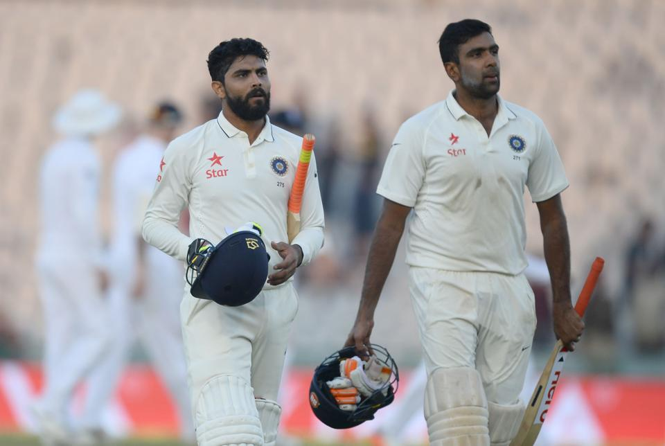The 27-year-old all-rounder had shown great restraint during a partnership with Ravichandran Ashwin that swung the third test against England India's way. (AFP)