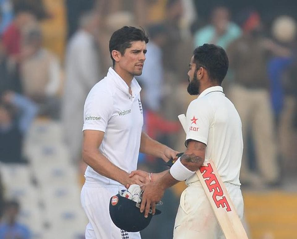 India skipper Virat Kohli had no regrets picking a third spinner as Jayant Yadav scored a crucial 55 and took four wickets but his England counterpart Alastair Cook admitted missing read the pitch and including a third specialist spinner, after the heavy defeat in the Mohali Test on Tuesday.
