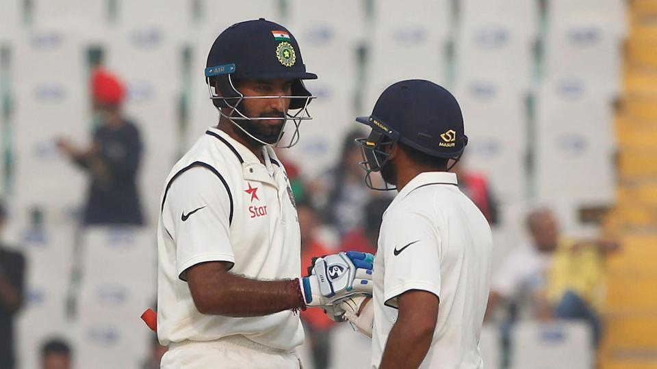 Parthiv Patel's partnership with Cheteshwar Pujara was the key after losing Murali Vijay for 0. (Photo by: Deepak Malik/ BCCI/ SPORTZPICS)