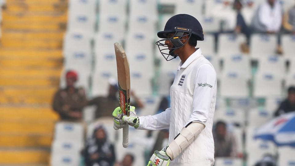 Haseeb Hameed scored his second fifty in three Tests as England tried to recover. (Photo by: Deepak Malik/ BCCI/ SPORTZPICS)