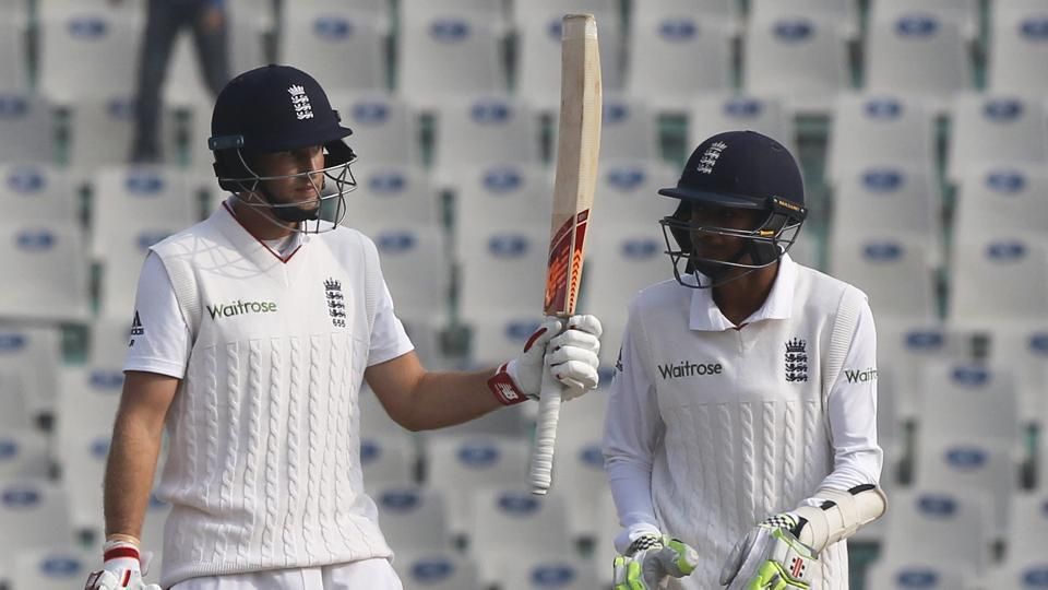 Joe Root scored his 25th Test fifty as he provided some resistance (Photo by: Deepak Malik/ BCCI/ SPORTZPICS)