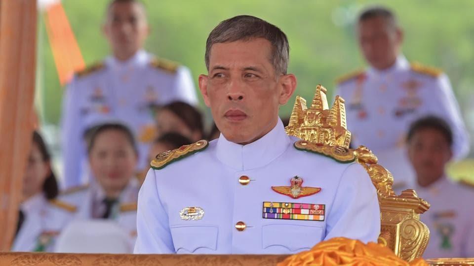 This file photo taken shows Thailand's Crown Prince Maha Vajiralongkorn attending the annual royal ploughing ceremony at Sanam Luang in Bangkok.