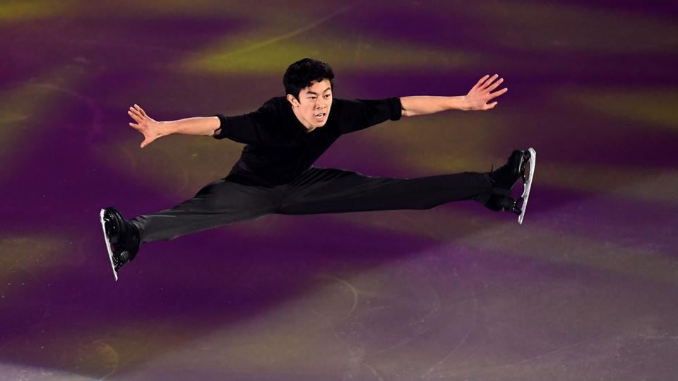 Nathan Chen of the US perform during the gala exhibition. (AFP)
