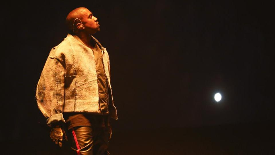 Kanye West during the Indianapolis leg of his Saint Pablo tour earlier this year.