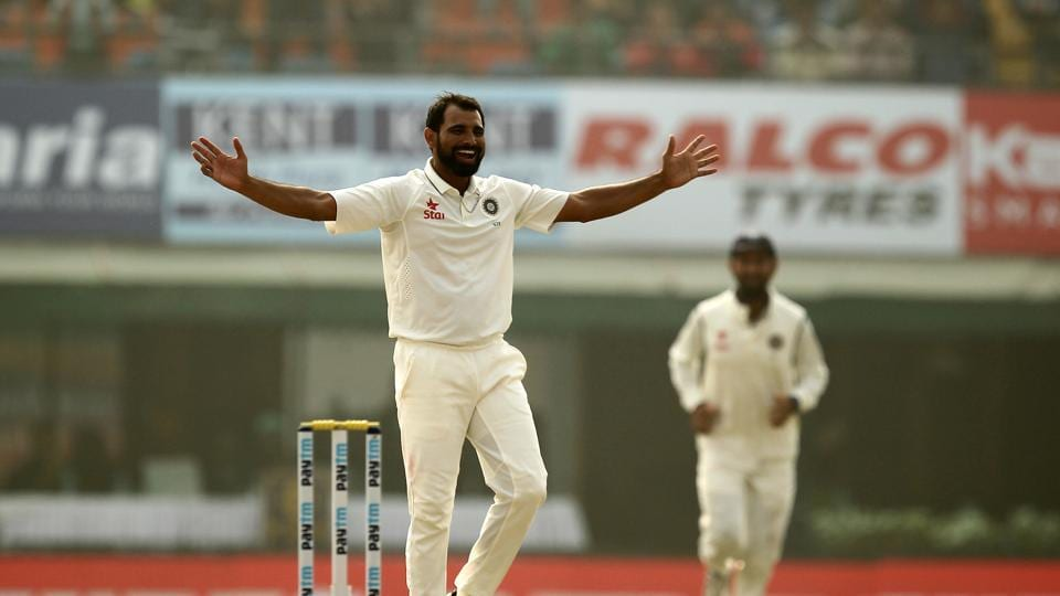 Mohammad Shami picked up the wickets of Chris Woakes and Adil Rashid as India struck with the new ball. (BCCI)