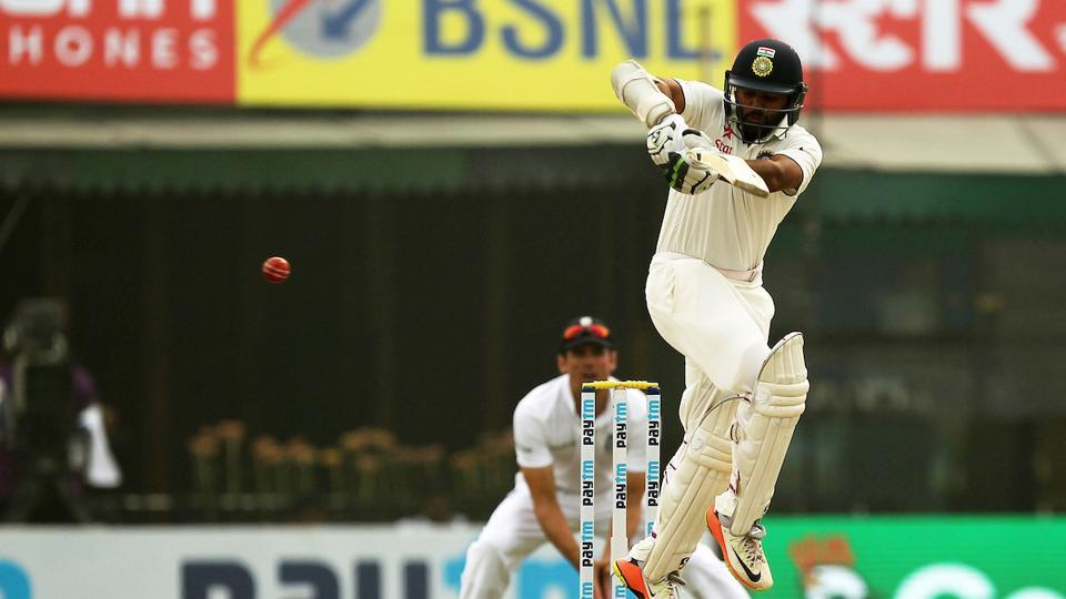 Parthiv Patel batted aggressively as he smashed an unbeaten 67*, his fifth Test fifty. (BCCI)