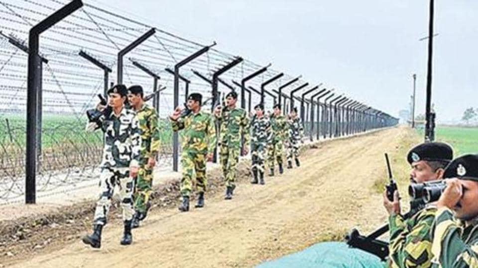 BSF jawans continue their vigil along the Indo-Pakistan International Border in Amritsar. (File Photo)