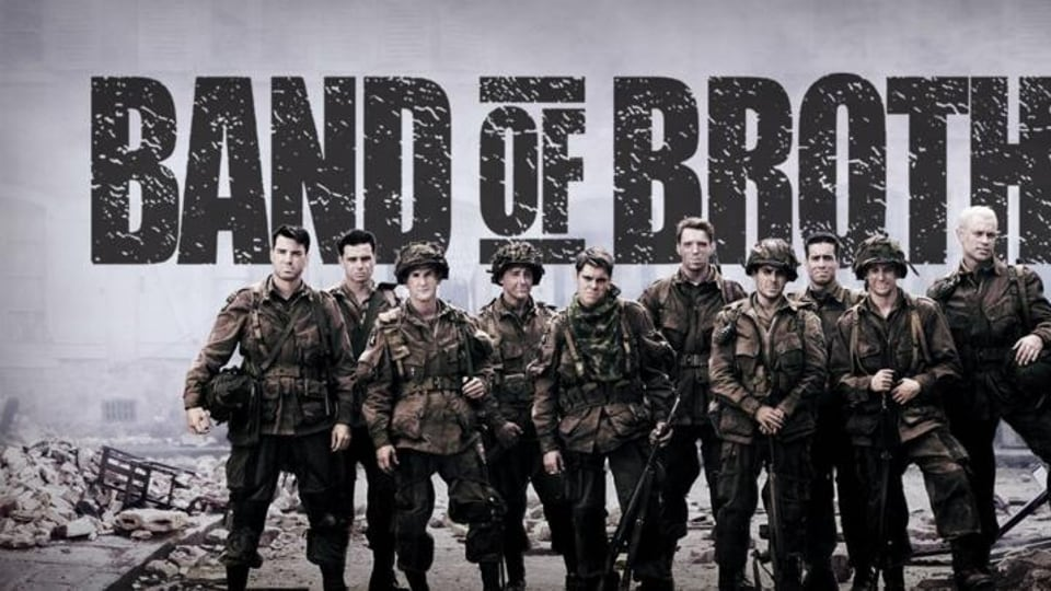 The 10-episode mini-series, a real life story of war heroes, stars Michael Fassbender, Tom Hardy, James McAvoy, David Schwimmer, Jimmy Fallon, Tom Hanks' son Colin Hanks, Simon Pegg, Michael Cudlitz, Neal McDonough, Jamie Bamber and Stephen Graham.