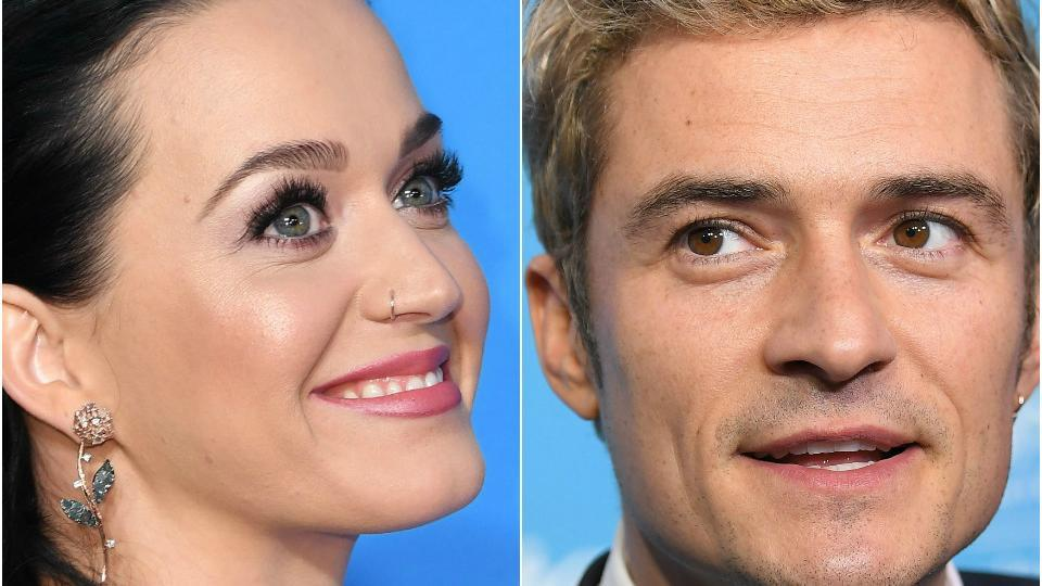 Katy Perry was spotted wearing a big rock on her engagement finger, sparking rumours that she may be engaged to actor Orlando Bloom.