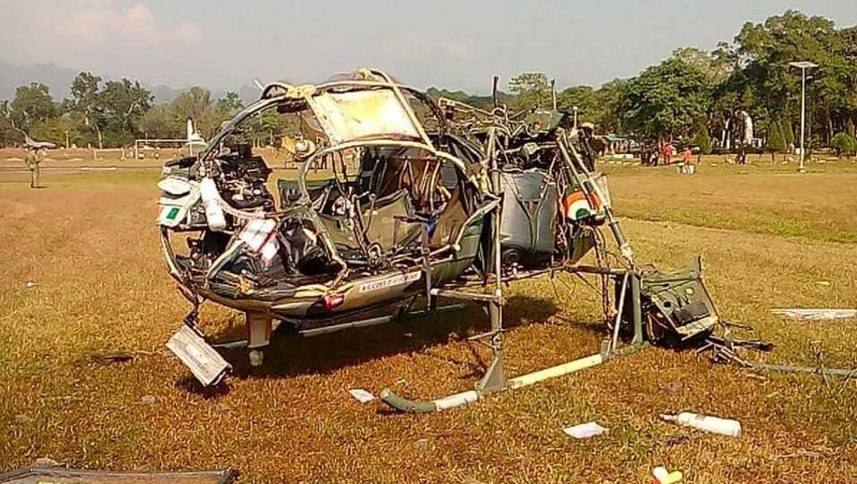Three army officers were killed when a Cheetah helicopter crashed at Sukna military camp in West Bengal.