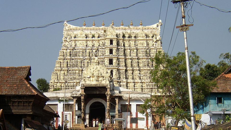 The Padmanabha Swamy shrine.