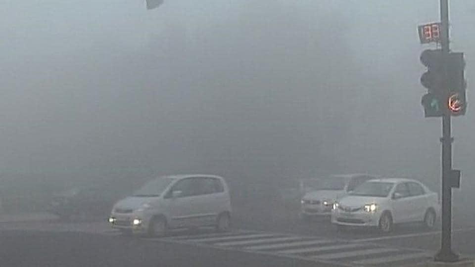 Dense fog engulfed Delhi and its adjoining areas.