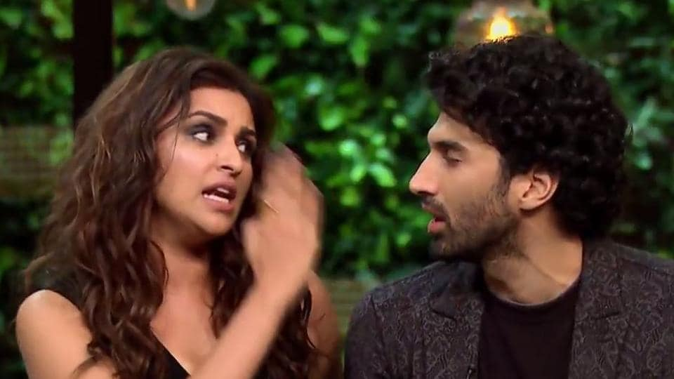 Parineeti Chopra and Aditya Roy Kapur will be seen answering some quirky and controversial question by the host.