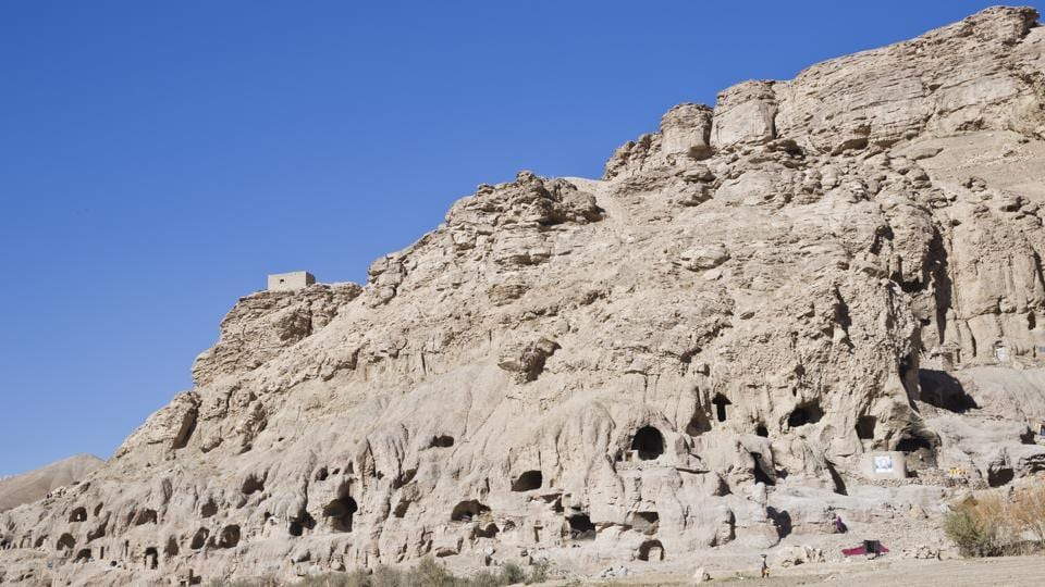 A general view of cave homes in Bamiyan.  (AP)