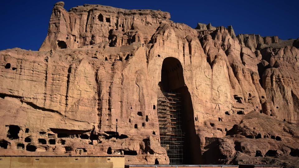 For centuries they stood, two monumental ancient statues of Buddha carved into the cliffs of Bamiyan, loved and revered by generations of Afghans.  (AFP)