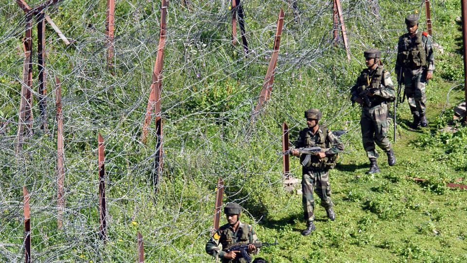 LOC : Line of actual control near India - Pakistan border in Jammu - Kashmir region- HT Photo by Nitin Kanotra